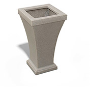 "Bordeaux 28"" Tall Planter, Sandstone"