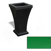 "Bordeaux 28"" Tall Commercial Planter, Spring Green"
