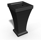 Bordeaux 24 Gallon Commercial Waste Bin, Black - 8866-B