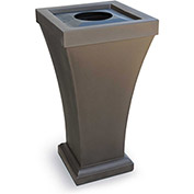 Bordeaux 24 Gallon Commercial Waste Bin, Espresso - 8866-ES