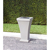 Bordeaux 24 Gallon Commercial Waste Bin, Sandstone - 8866-SG