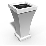 Bordeaux 24 Gallon Commercial Waste Bin, White - 8866-W