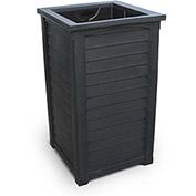 "Lakeland 38"" Tall Commercial Planter w/Liner, Black"