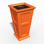Oxford 24 Gallon Commercial Waste Bin, Coral Orange - 8874-CO