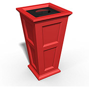 Oxford 24 Gallon Commercial Waste Bin, Poppy Red - 8874-PR
