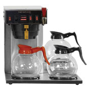 "Newco 108000-B - IA-LP Coffee Brewer, Plumbed, 2 Warmers, 120V, 15-7/8""W x 16-3/8""D x 16-3/8""H"