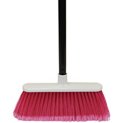 "O-Cedar Commercial MaxiSoft Plastic Broom, 48"" Metal Handle 12/Case - 6402 - Pkg Qty 12"