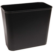 O-Cedar Commercial 27 Qt. Fire Resistant Wastebasket, Black 6/Case - 6803 - Pkg Qty 6