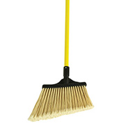 "O-Cedar Commercial MaxiPlus® Professional Angle Broom Flagged, 48"" Fiberglass Handle 4/Ca-91355 - Pkg Qty 4"