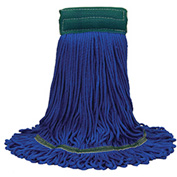 "O-Cedar Commercial Large MaxiPlus® Microfiber Loop-End Mop 5"" Band, 12/Case Blue 12/Case -97207 - Pkg Qty 12"