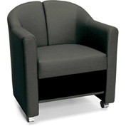 OFM Reception Club Chair - Vinyl - Black - Contour Series