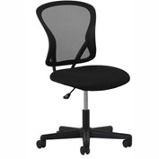 OFM Mesh Task Chair with Swivel - Fabric - Mid Back - Black - Essential Series