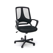 OFM Mesh Task Chair with Arms - Fabric - High Back - Black - Essential Series