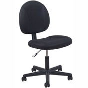 OFM Essentials Fabric Task Chair with Tilt Control - Mid-Back - Height Adjustable - Black