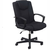OFM Task Chair with Arms and Tilt Control - Fabric - Mid Back - Black - Essential Series