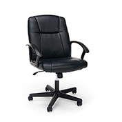 OFM Office Chair with Arms - Leather - Mid Back - Essential Series