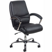 "OFM Essentials High-Back 17 to 19-7/8"" Height Adjustable Leather Task Chair with Tilt Control Black"