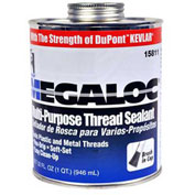 Hercules 15808 Megaloc Thread Sealant - Screw Cap With Brush 16 oz. - Pkg Qty 12