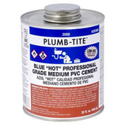 "Oatey 2024 2000 Series Plumb-Tite PVC Medium ""Hot"" Blue Cement 1 Gallon - Pkg Qty 6"