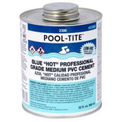 "Oatey 2336S 2300 Series Pool-Tite Medium Blue ""Hot"" PVC Cement 32 oz. - Pkg Qty 12"
