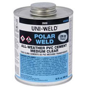 Oatey 2666S 2600 Series Polar-Weld PVC All Weather Cement 4 oz. - Pkg Qty 24