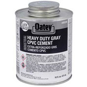 Oatey 30328 EP42 CPVC - PVC HD Gray Industrial Cement 16 oz. - Pkg Qty 24