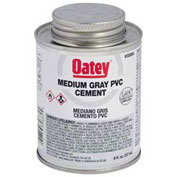 Oatey 30883 PVC Medium Gray Cement 4 oz. - Pkg Qty 24