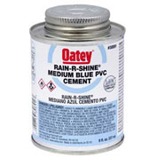 Oatey 30890 PVC Rain-R-Shine Blue Cement 4 oz. - Pkg Qty 24