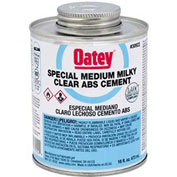 Oatey 30924 ABS Special Milky Clear Cement 1 Gallon - Pkg Qty 6