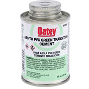 Oatey 30925 ABS To PVC Transition Green Cement 16 oz. - Pkg Qty 6