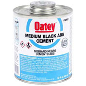 Oatey 30999 ABS Medium Black Cement 4 oz. - Pkg Qty 24