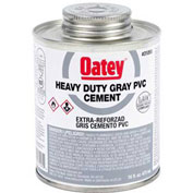 Oatey 31095 PVC Heavy Duty Gray Cement 16 oz. - Pkg Qty 24