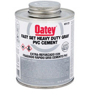 Oatey 31121 PVC Heavy Duty Gray Fast Set Cement 16 oz. - Pkg Qty 24