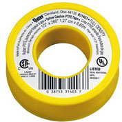 "Hercules 31403 Yellow Gas Line Thread Seal Tape With PTFE 1/2"" x 260"" - Dispenser Pack - Pkg Qty 10"