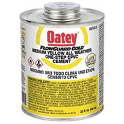 Oatey 31911 All Weather CPVC FlowGuard Gold 1-Step Yellow Cement 8 oz. - Pkg Qty 24