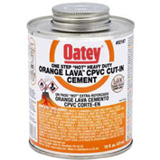 Oatey 32168 Orange Lava CPVC Cut-In Cement 32 oz. - Pkg Qty 12