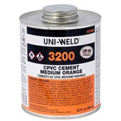 Oatey 3236S 3200 Series CPVC Medium Orange Cement 32 oz. - Pkg Qty 12