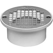 """Oatey 43601 3"""" Or 4"""" PVC General Purpose Drain with 5"""" Nickel Alloy Grate - Pkg Qty 12"""