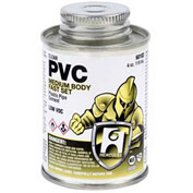Hercules 60115 PVC - Clear, Medium Body, Fast Set Cement - Jumbo Dauber In Cap 16 oz. - Pkg Qty 12