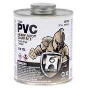 Hercules 60165 PVC - Clear, Heavy Body, Slow Set Cement - Jumbo Dauber In Cap 32 oz. - Pkg Qty 12