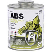 Hercules 60520 ABS - Black, Medium Body, Fast Set Cement Jumbo Dauber In Cap 32 oz. - Pkg Qty 12