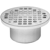 """Oatey 72040 5"""" Round Brass Grate & Square Ring & Plastic Barrel"""