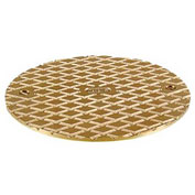 """Oatey 81140 6"""" Round Cover & Square Ring, Brass"""