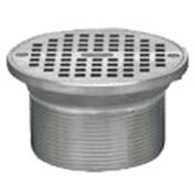 "Oatey 82310 5"" Cast Nickel Round Barrel & Round Nickel Grate"