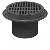 """Oatey 86034 4"""" ABS Sediment Drain, Cast Iron Grate with Bucket"""