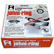 "Hercules 90234 3"" or 4"" Johni-Rings - With Plastic Horn, Combo Pack - Pkg Qty 24"