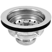 Oatey DB711BN Spin-N-Lock Sink Basket Strainer Chr. Plated Body, SS Screw-In Basket, Brass Nuts - Pkg Qty 24