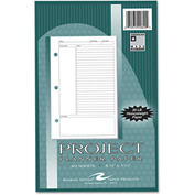 "Roaring Spring® Project Planner Paper 20820, 8-1/2"" x 5-1/2"", White, 80 Sheets"