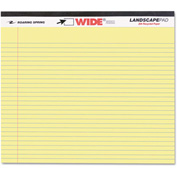 "Roaring Spring® Landscape Format Writing Pad 74501, 11"" x 9-1/2"", Canary, 40 Sheets/Pad, 1/Pack"