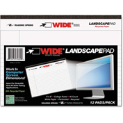 "Roaring Spring® WIDE Landscape Format Writing Pad 74600, 6"" x 8"", White, 40 Sheets/Pad, 1/Pack"